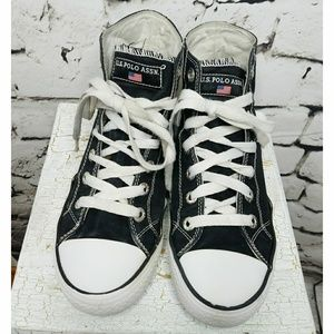 U.S. Polo Assn. Schuhes   Uspa schwarz Canvas  Herren Sneakers Hightops Sz ...